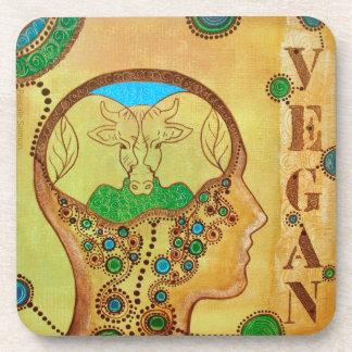 Vegan cow connection coaster