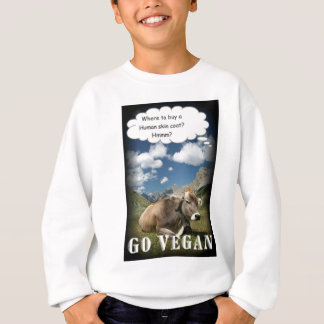 vegan cow sweatshirt