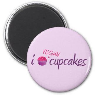 Vegan Cupcakes 6 Cm Round Magnet