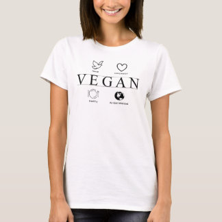 Vegan Defined in Black and White t shirt for women