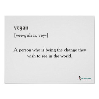 Vegan Definition Poster