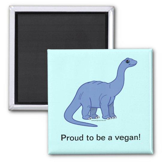 Vegan Dinosaur Magnet