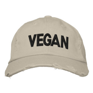 VEGAN Distressed Embroidered Hats