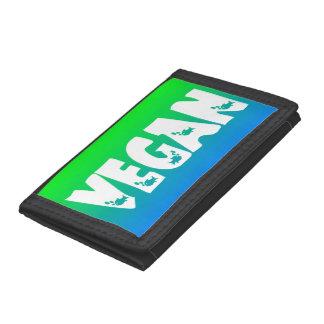 Vegan Fish Logo TriFold Wallet