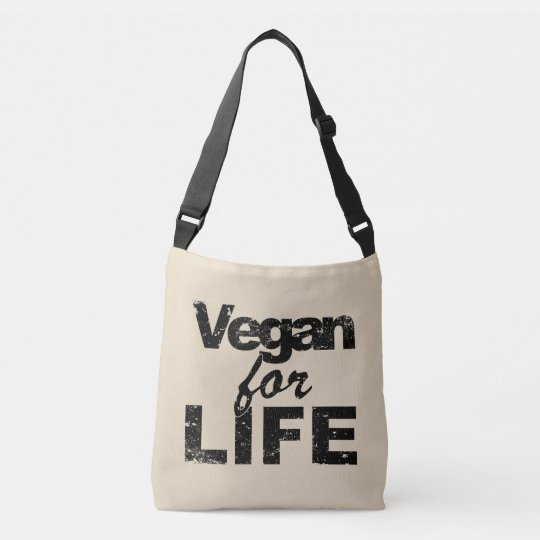 Vegan for LIFE (blk) Crossbody Bag