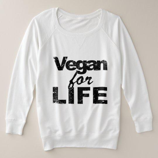 Vegan for LIFE (blk) Plus Size Sweatshirt
