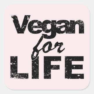 Vegan for LIFE (blk) Square Sticker