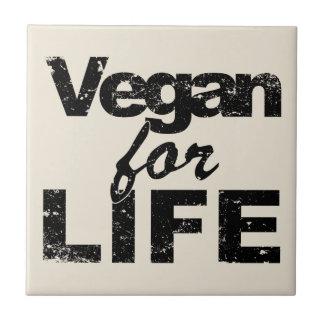 Vegan for LIFE (blk) Tile