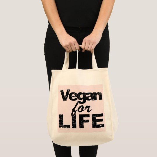 Vegan for LIFE (blk) Tote Bag