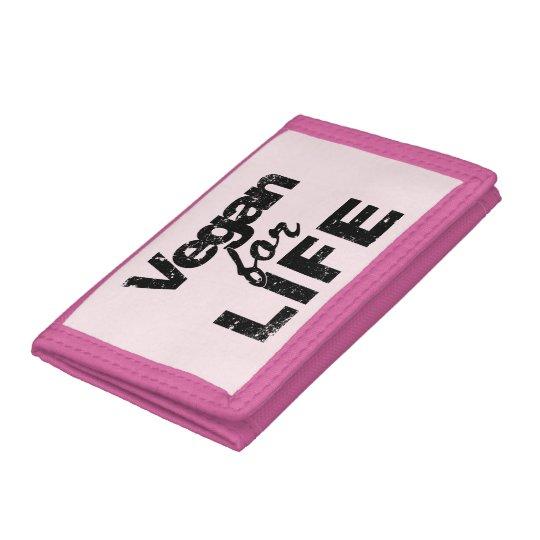 Vegan for LIFE (blk) Tri-fold Wallet