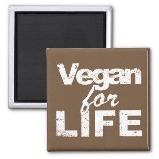 Vegan for LIFE (wht) Magnet