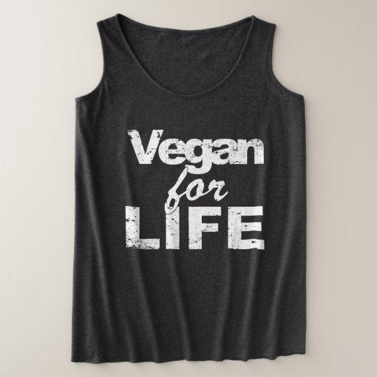 Vegan for LIFE (wht) Plus Size Tank Top