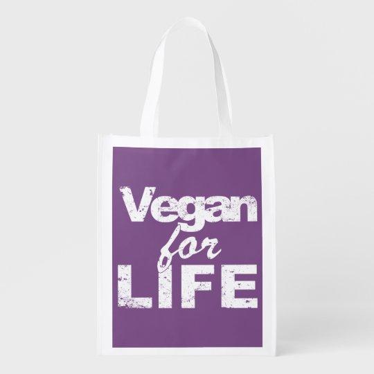 Vegan for LIFE (wht) Reusable Grocery Bag
