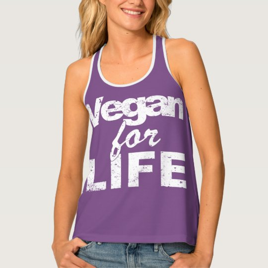 Vegan for LIFE (wht) Tank Top