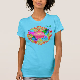 Vegan For LOVE!! ~ Gorgeous Teal Soft T T-Shirt