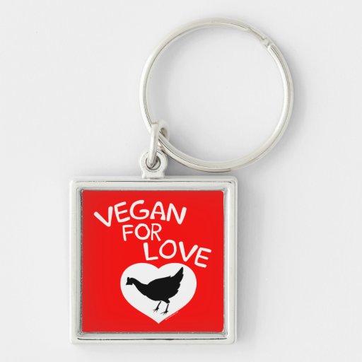 Vegan for Love Keychain
