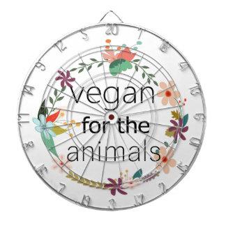 Vegan for the animals floral design dartboard
