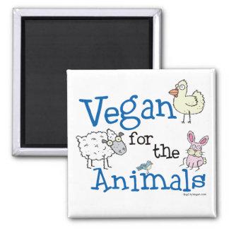 Vegan for the Animals Square Magnet