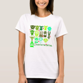 Vegan for the critters! woman's T shirt