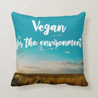 Vegan For The Environment Cushion