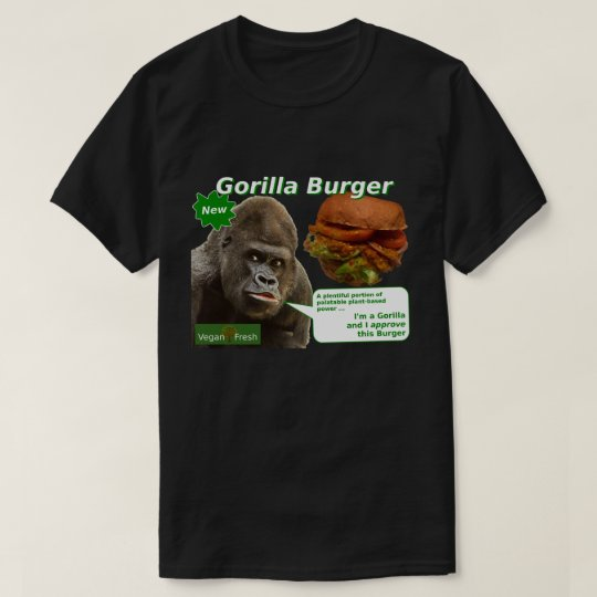 Vegan Fresh Gorilla Burger T-Shirt