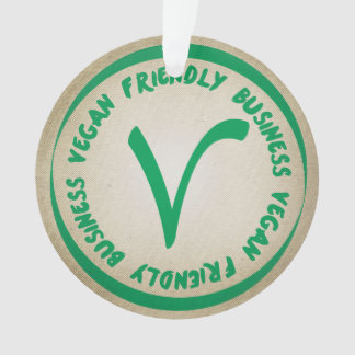 Vegan Friendly Business Ornament
