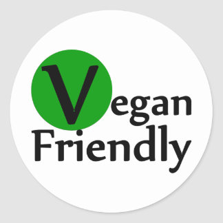 Vegan Friendly Classic Round Sticker