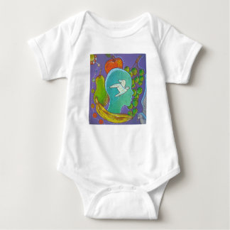 Vegan fruits and freedom baby bodysuit