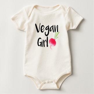 """""""Vegan Girl"""" beets baby bodysuit"""