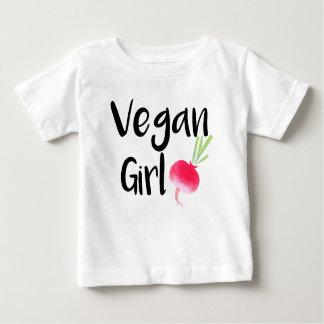 """Vegan Girl"" beets baby shirt"