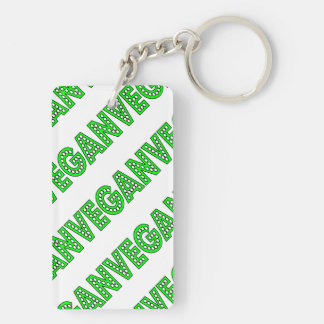 Vegan Green Logo Double-Sided Rectangular Acrylic Key Ring