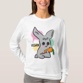 Vegan grey cute bunny with carrot Hoody