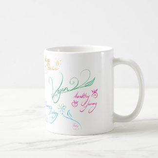 Vegan & happy lifestyle coffee mug