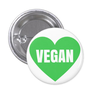 VEGAN HEART 3 CM ROUND BADGE