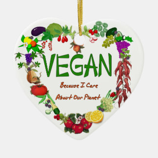 Vegan Heart Christmas Ornament
