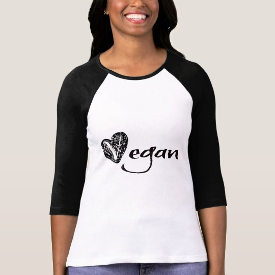 Vegan Heart Sketch T-Shirt