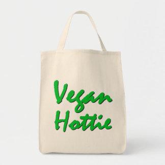 Vegan Hottie - Organic Grocery Tote Grocery Tote Bag