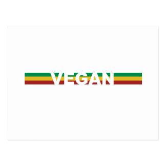 Vegan in Rasta Stripes Postcard