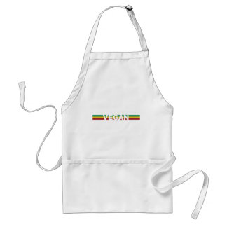 Vegan in Rasta Stripes Standard Apron