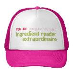 Vegan Ingredient Reader Hat