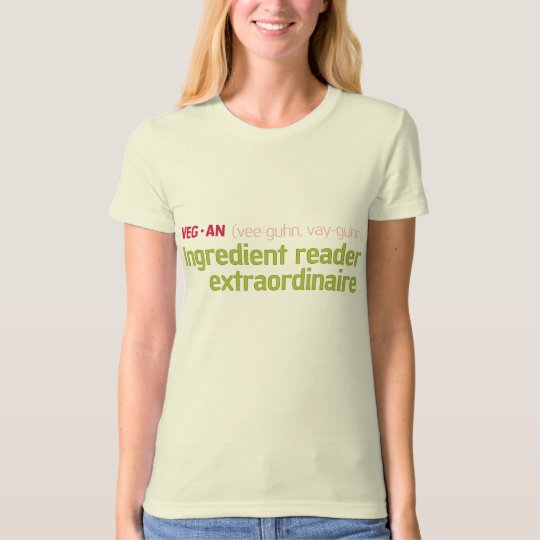 Vegan Ingredient Reader T-Shirt