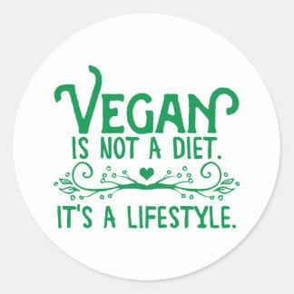 Vegan is not a Diet Classic Round Sticker