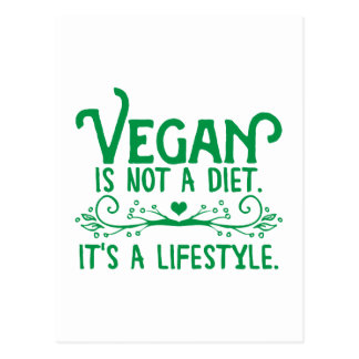 Vegan is not a Diet Postcard
