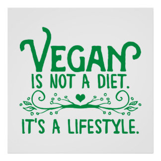 Vegan is not a Diet Poster