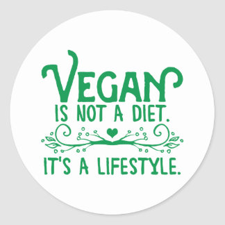 Vegan is not a Diet Round Sticker