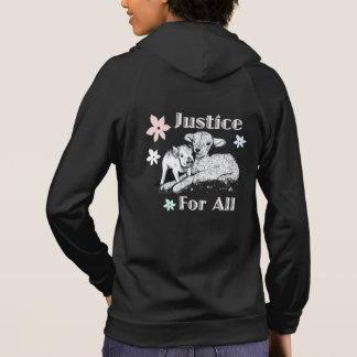 Vegan Justice For All Hoodie