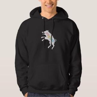 Vegan leaping boar hoodie