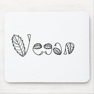 Vegan Leaves Mouse Pad