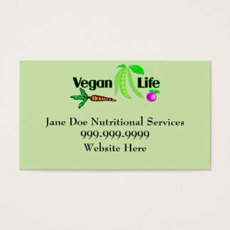 Vegan Life Business Cards
