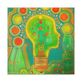 Vegan light canvas print